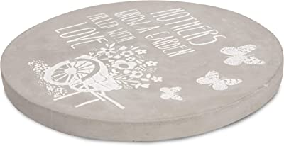 Pavilion Gift Company Mothers Grow Filled with Love Cement Garden Stone