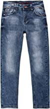 boys stretch slim fit denim Ripped Distressed Jeans pants with holes for children's