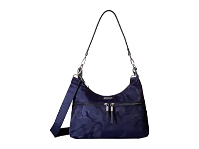 Baggallini Convertible Medium Hobo (Navy Jacquard) Hobo Handbags