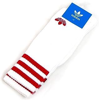 adidas アディダス ソリッド クルーソックス 2P レッド系[CE5712]
