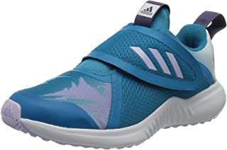 Adidas FortaRun X Frozen Patterned Textile Velcro Running Sneakers for Kids