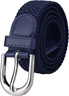 Men Women Canvas Elastic Fabric Woven Stretch Braided Belt - 21 Variety Colors