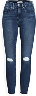 Good American Women's Good Legs Crop Jeans with Raw Edge
