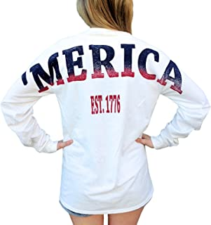 Merica Stadium Jersey USA T Shirt with Front Pocket