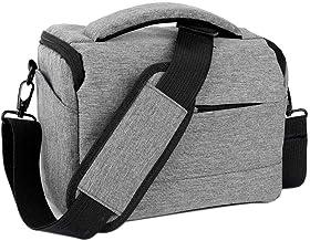 Neuleben Kameratasche Klein Wasserdicht Fototasche mit Tragegurt Messenger Umhängetasche für Spiegelreflex Systemkamera SLR DSLR Kamera Grau