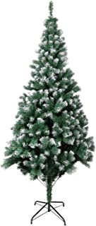ZOGIN Artificial Christmas Tree, Premium Xmas Pine Tree with Snowflakes and Solid Metal Legs Stand Perfect for Indoor Outdoor Holiday Decoration (700 Tips, 6FT)