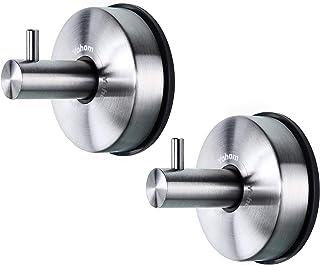 JOMOLA Vakuum-Saugnapfhaken K/üche Mehrzweckhaken Edelstahl Saugnapf Wandhaken Vakuum Badetuch Haken Badezimmer Heavy Duty Saugnapf Haken