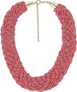 RF Rizir Fashion Earrings Wrap Bracelet Multi Strand Layered Long Handmade Beaded Necklace For Women | Fashion Costume Vin...