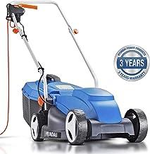 Hyundai 32cm Lightweight Rotary Electric Lawn Mower, 320mm Cutting Width 1000w Corded Electric Lawnmower, 25L Grass Bag, C...