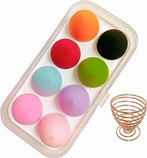 8 Pack Makeup Sponge Set,Makeup Puff Beauty Makeup Egg,Soft Polyester Makeup Blender Sponges with Sponge Holder (Multi)