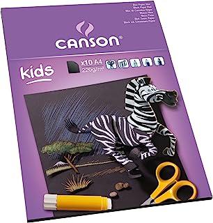 Canson Kids Papier couleur 10 feuilles A4 21 x 29,7 cm Noir