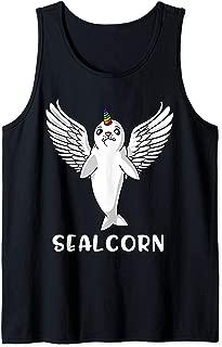 Seal Unicorn Sealcorn Cute Polar Seal Baby Kids Tank Top