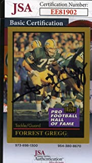 FORREST GREGG 1991 Enor Hall Of Fame JSA Coa Hand Signed Authentic Autograph