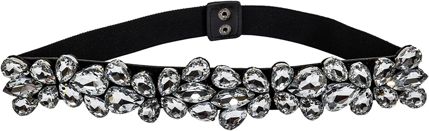 IUMN Womens Buckle Belt Sash with Rhinestones for Wedding Dress