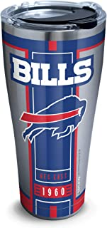 Tervis 1317585 NFL Buffalo Bills - Blitz Stainless Steel Insulated Tumbler with Clear and Black Hammer Lid, 30 oz, Silver