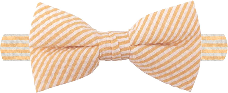 Max 42% OFF Jacob Alexander Men's Seersucker Striped Banded Pattern Pre-tied Import