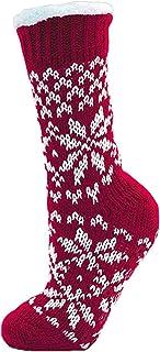Calcetines Lora Dora para mujer, de lujo, en polar, antideslizante, por debajo de la rodilla, tallas 37-40