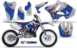 T-Bomber-AMRRACING MX Graphics decal kit fits Yamaha YZ 125/250 (2002-2013)-Blue
