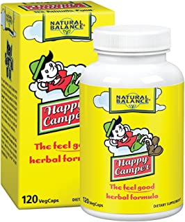 Natural Balance Happy Camper   Feel-Good Mood Support and Relaxation Supplement with Kava Kava, 120 VegCaps, 60 Serv.