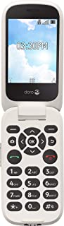 Doro (7050TL) Flip Easy-to-Use Cell Phone for Seniors (White) by Tracfone