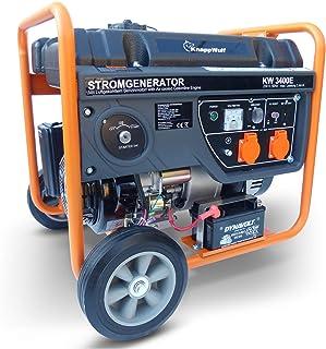 KnappWulf Generador de corriente KW3400 con arranque eléctrico, 230 V, 1 fase