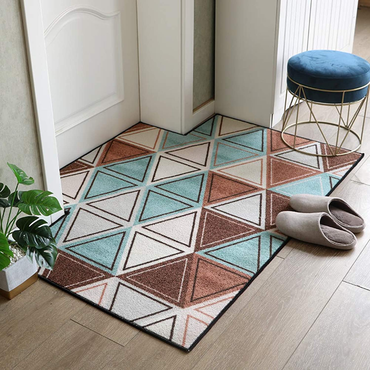 Carpet,Front Door Rug Door mat Living Room Bedroom Kitchen Rug Indoor mats Front Entrance Door mat-Triangle 80x100cm(31x39inch)