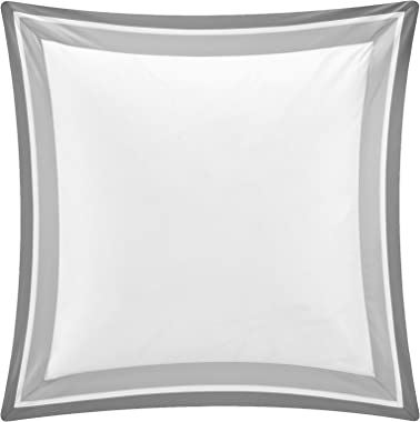 "Shading Collection 2 pieces in a Pack Euro Square Pillow Shams -100% Egyptian Cotton Sateen 400 Thread Count - 26""x26"" with 1"