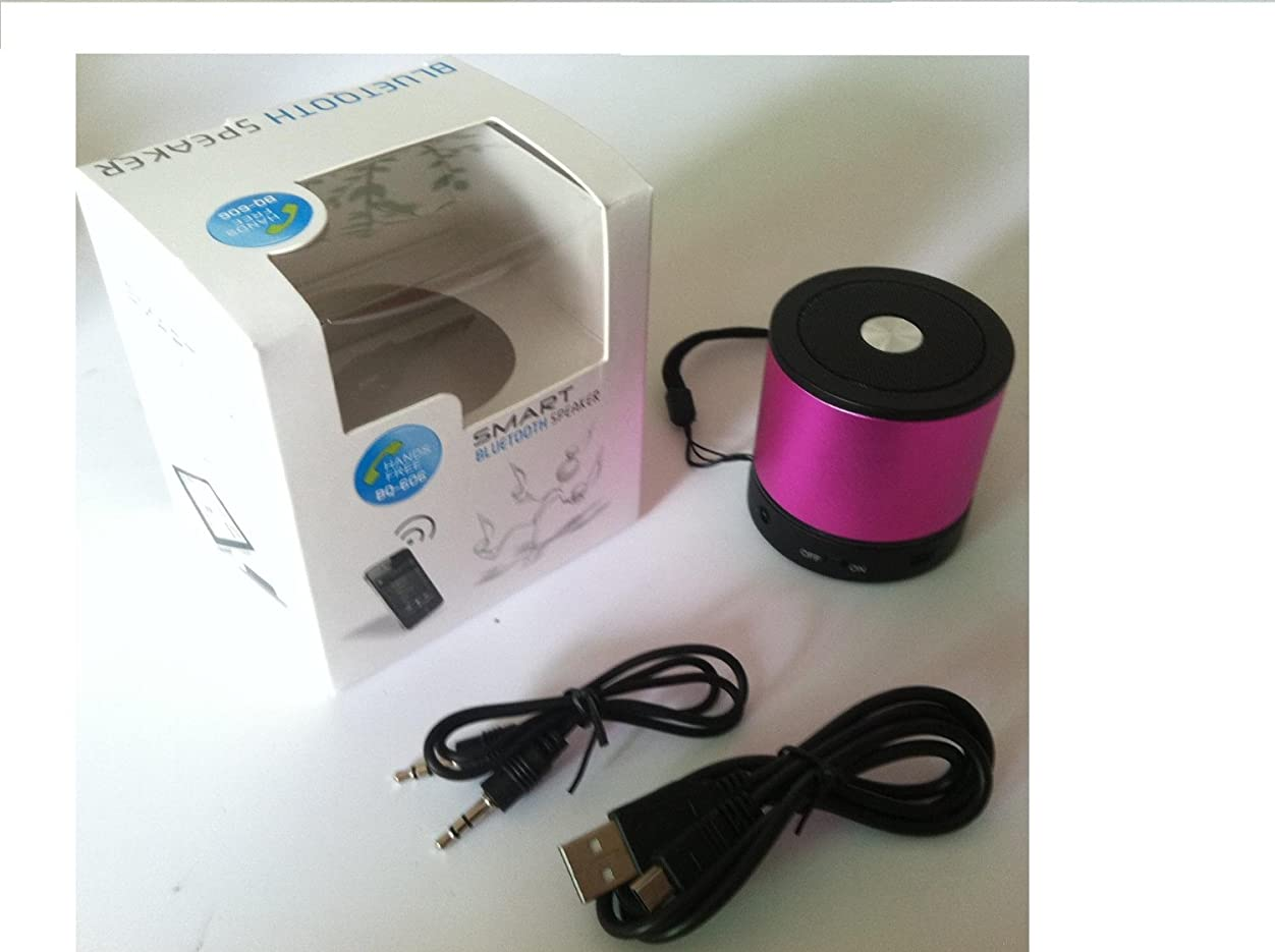New Pink color Mini Portable Wireless Bluetooth speaker with Rechargeable Li Battery + FM Radio+ Micphone handfree+ Support Micro SD card+ Best audio+ 3.3mm audio input. Best mini speaker zgoz853883378