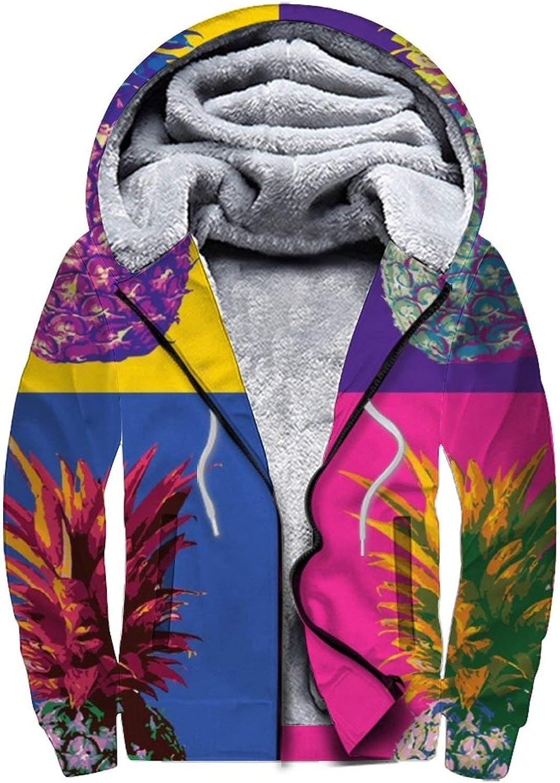 Max 76% Popular standard OFF Men'S Fleece Hoodie Pullover Winter Full Workout Zip War Jackets