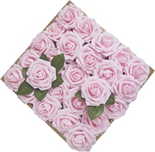 Umiss Roses Artificial Flowers Fake Flowers Wedding Decorations Set 50pcs Artificial..