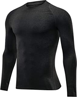 Outto Men's Base Layer Long Sleeve Undershirt Lightweight Wicking Top