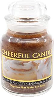 A Cheerful Giver Warm and Gooey Cinnamon Buns Jar Candle, 6-Ounce