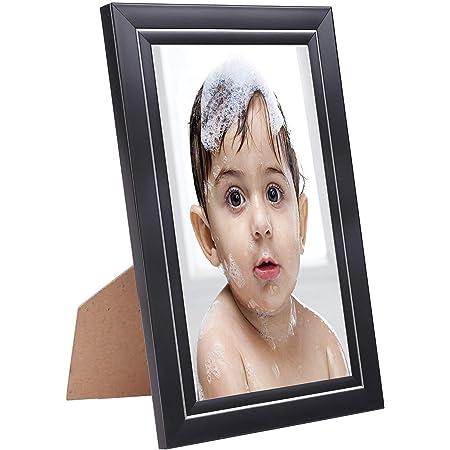 Amazon Brand - Solimo Photo Frames, Tabletop (1 pc - 8x12 inch), Black & Silver