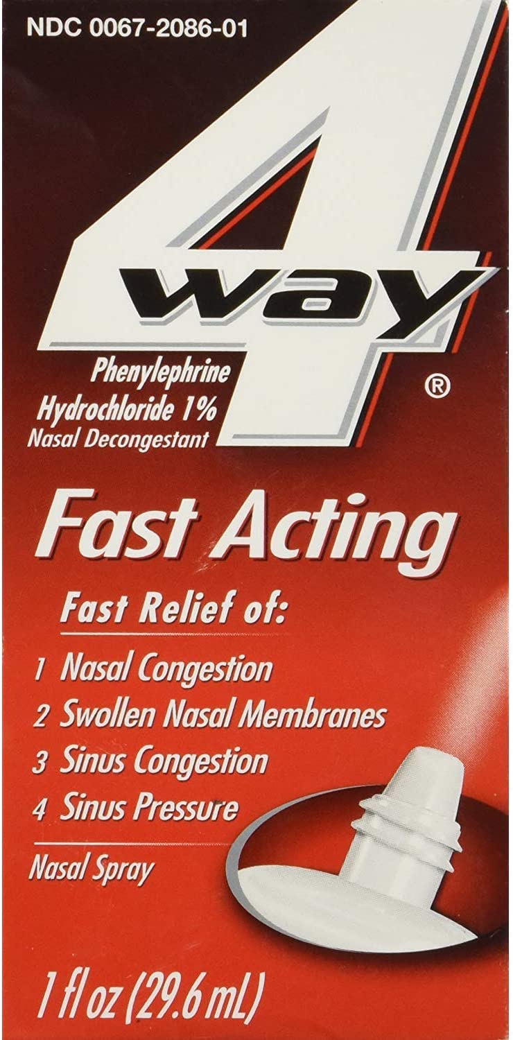 4 Way Popular shop is the lowest price challenge Fast Acting Nasal Very popular Spray oz of - 1 Pack