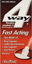 4 Way Fast Acting Nasal Spray - 1 oz, Pack of 6