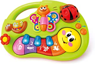 Baby Toys Electric Flower Butterfly Finger Illuminating and Learning Piano with Light Flashing, and Music