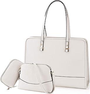 NEWHEY Handtasche Set Damen Shopper Groß Tasche Leder Handtasche Elegant Umhängetasche Schultertasche Geldbörse 3-teiliges...