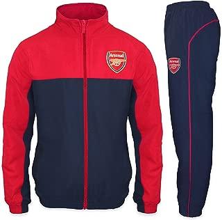Arsenal Football Club Official Soccer Gift Boys Jacket & Pants Tracksuit Set