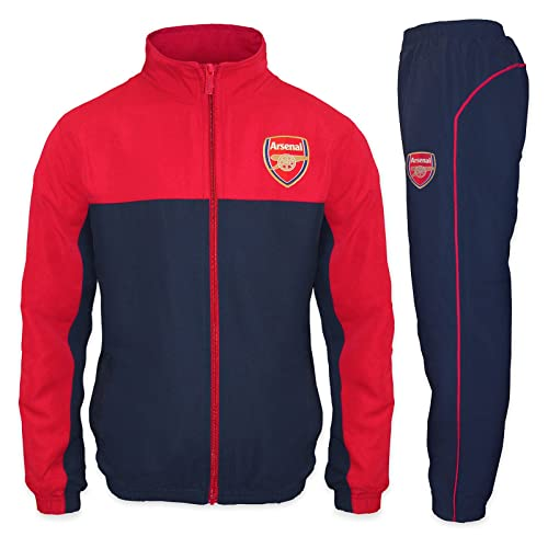 3754166ec Arsenal FC Official Football Gift Boys Jacket   Pants Tracksuit Set Red