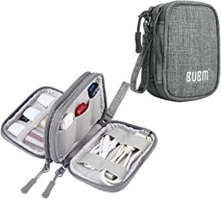 BUBM USB Flash Drive Case Holder (8 - Capacity), Double Layer Storage Bag for USB Flash Drives/Thumb Drives/Pen Drives/Jump Drives and USB Cables, Grey (No Accessories Included)
