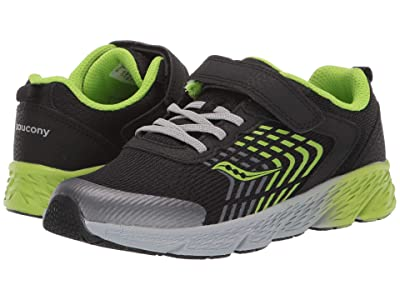 Saucony Kids S-Wind A/C (Little Kid/Big Kid) (Black/Green) Boys Shoes