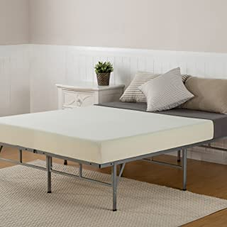 Sleep Master 6 Inch Memory Foam Mattress and Easy To Assemble Smart Platform Metal Bed Frame,Twin