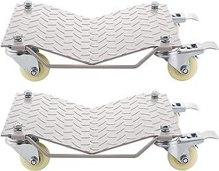 Moracle Wheel Auto Dolly para Mover Coche Tire Rueda Dolly Rueda Dollies Tire Patines Heavy Duty Vehículo Coche Auto Reparación de Slide Aluminio Caster, Juego de 2 Piezas Capacidad de 4 Carros 680 kg