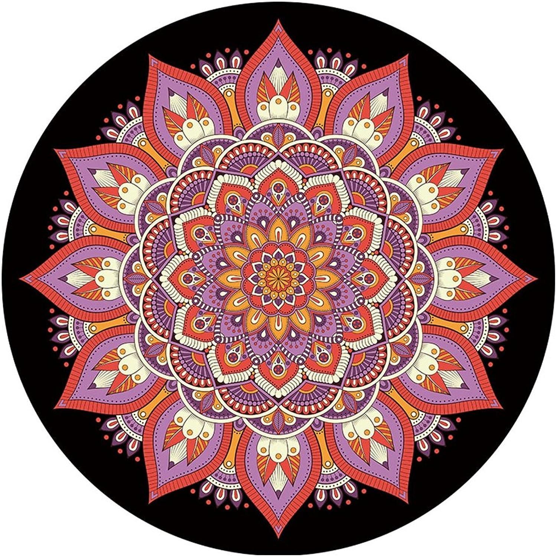 HBJP Round Yoga mat, Professional Dance Movement Fitness Yoga Blanket Buddha Meditating Coffee Table mat 140x140cm Yoga mat (color    2)