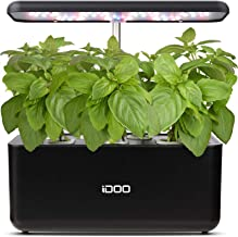 iDOO Hydroponics Growing System, Indoor Herb Garden Starter Kit with LED Grow Light, Smart Garden Planter for Home Kitchen...