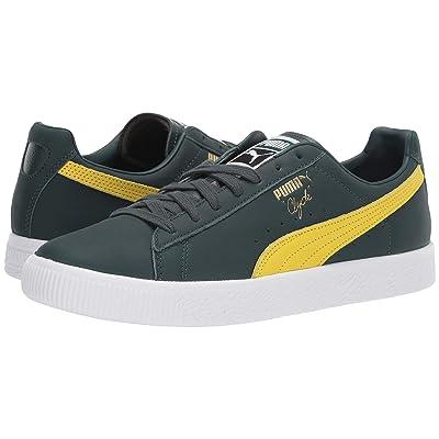 PUMA Clyde Core (Ponderosa Pine/Blazing Yellow/Puma White) Shoes