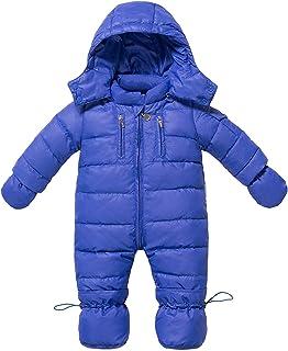 ZOEREA Baby Mädchen Schneeanzug Daunenanzug Daunenmantel Strampler Winter Babybekleidung für 0-18 Monate