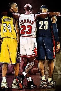 target achiver poster Kobe Bryant Michael Jordan Lebron James NBA Basketball Poster 12 x 18 Inch Rolled