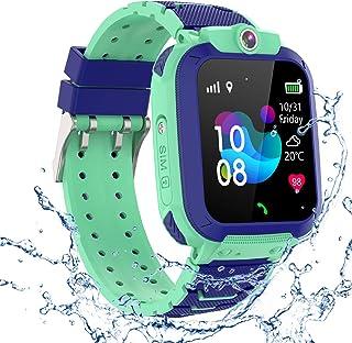 GPS Niños Impermeable Smartwatch, Reloj Inteligente Smart Watch Telefono con GPS Rastreador Conversación Bidireccional Lla...
