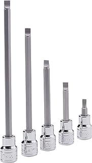 "Genius Tools 440+1292 1/2"" Dr. 2.0 x 12.0mm Slotted Bit Socket, 60Mml"